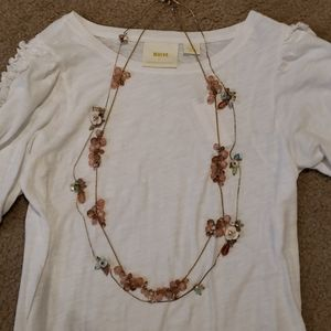 Anthropologie Floral and Beaded Strand Necklaces 2